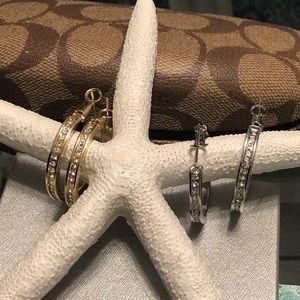 Fashion jewelry silver and gold pierced errings